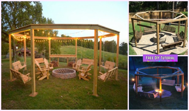 DIY Pergola Firepit Swings Tutorial