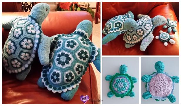 Elephant African Flower Crochet Pattern