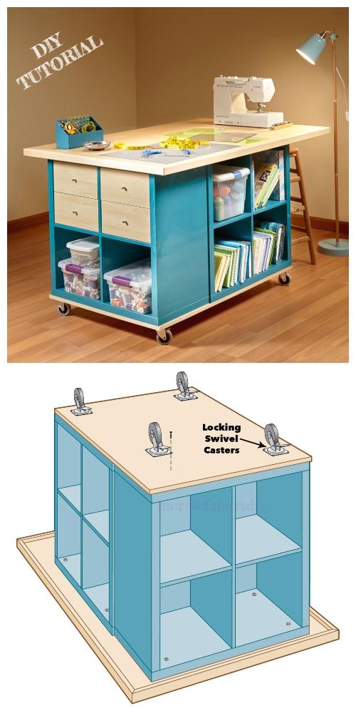 Diy Craft Table Ikea : craft, table, Kallax, Craft, Table, Tutorial, Magazine