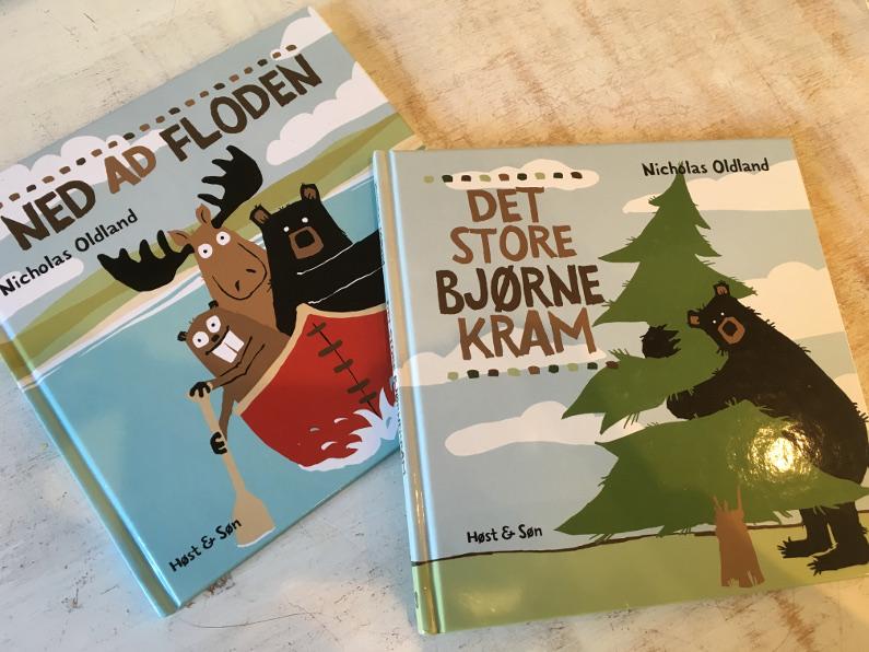 Sjove bøger for de 2-3årige - Elg, bæver og bjørn