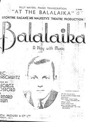 Partitura digital de At The Balalaika(George Posford