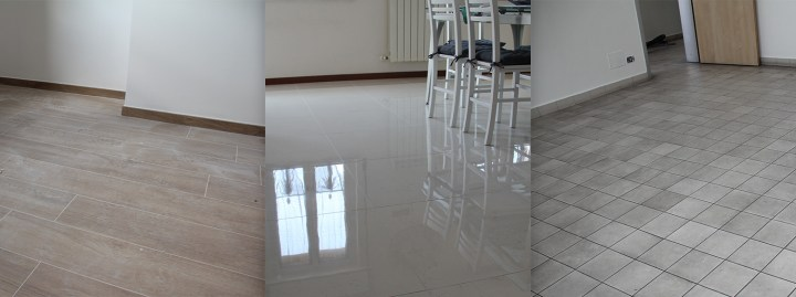 The three phases of cleaning tile floors