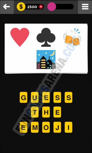 Guess The Emoji Answers Level 2 : guess, emoji, answers, level, Emoji, Answers, Poker, Night, Fabever