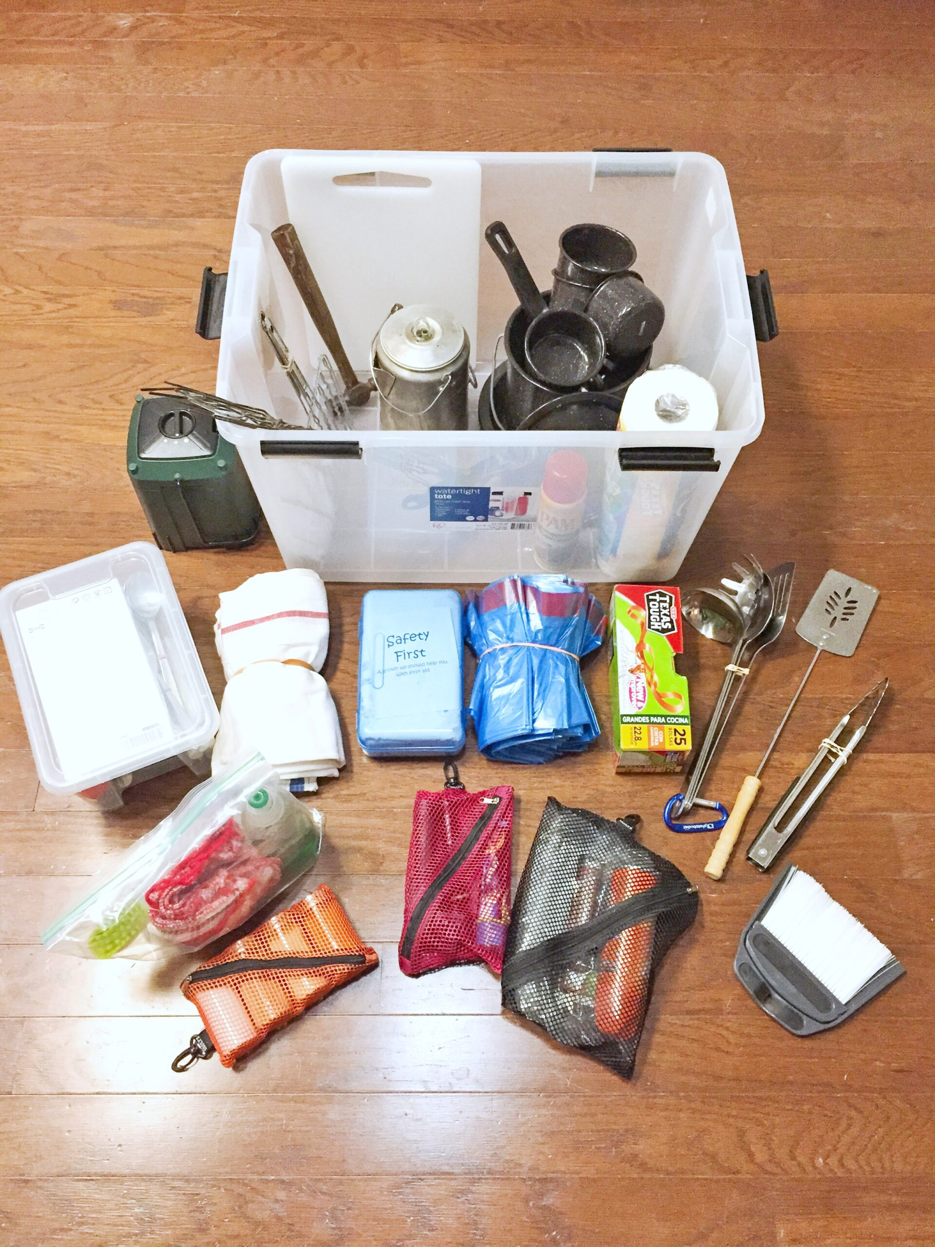 How to organize camping gear: Tips for putting together a camping supplies box   Fab Everyday