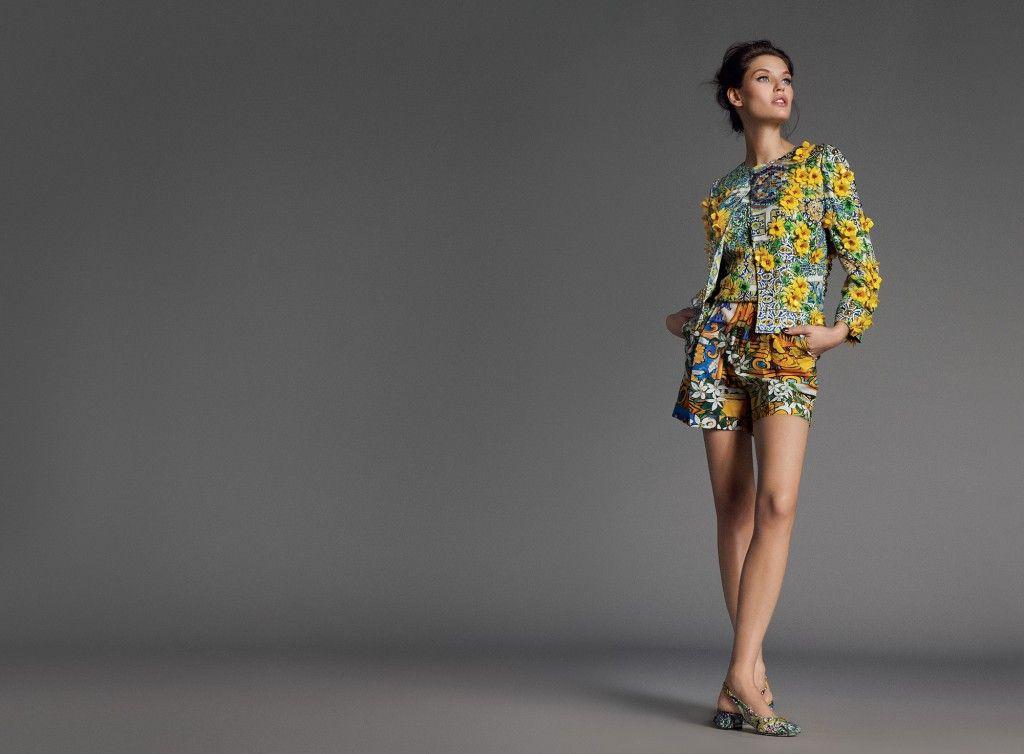 Bianca Balti For Dolce Amp Gabbana SS 2013 Lookbook Fab