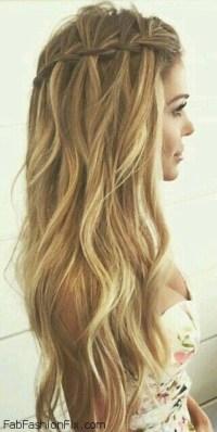 Hair: How to do a Waterfall braid hairstyle? - Fab Fashion Fix