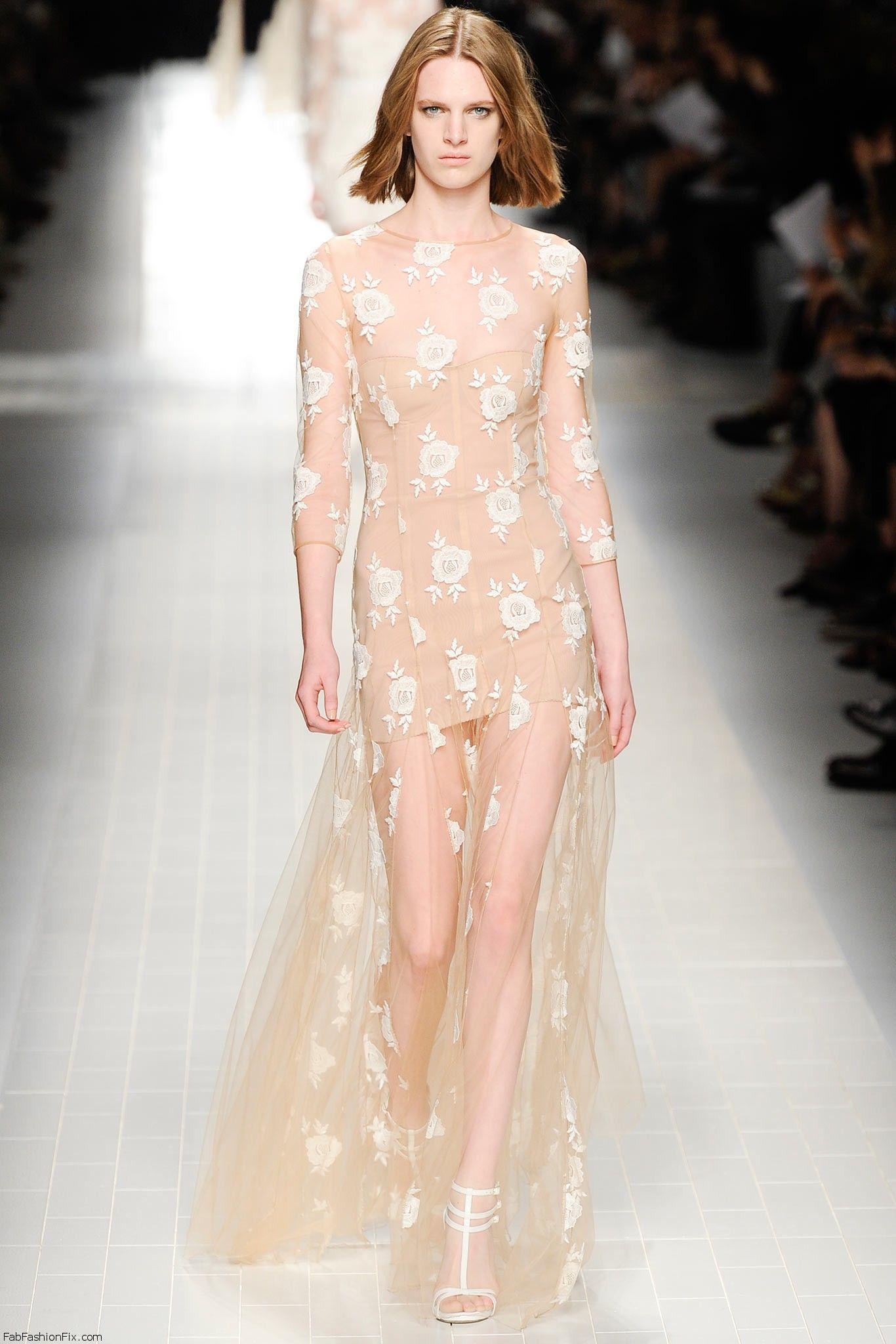 Blumarine springsummer 2014 collection  Milan fashion week  Fab Fashion Fix