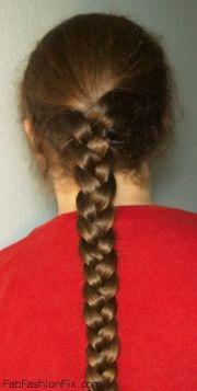 three strand braid hairstyle tutorial