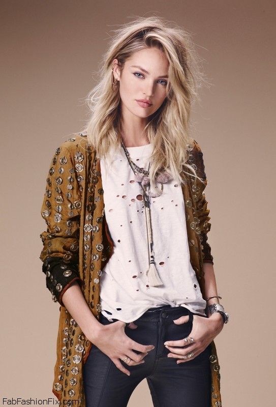 Fall Bohemian Fashion Wallpaper Candice Swanepoel Is Bohemian Chic For Free People 2014