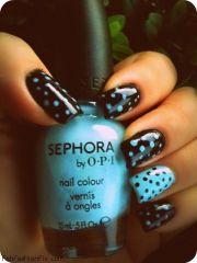 fab polka dot nails and nail art