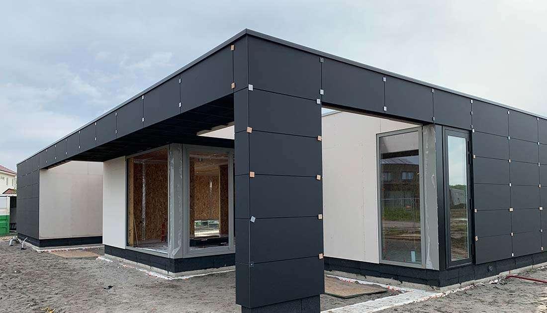 Gevelafwerking houten huis