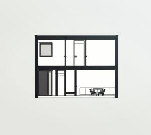 Doorsnede kubistische woning