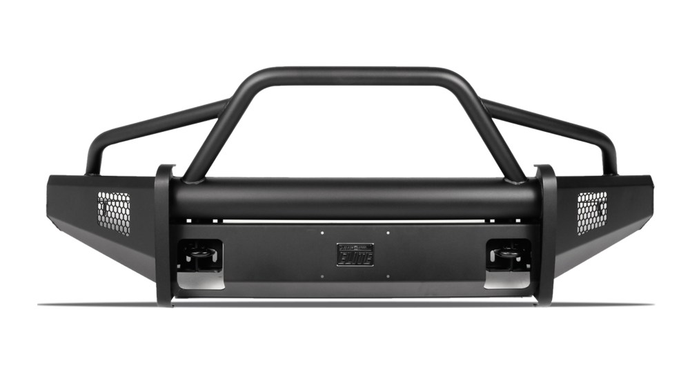 medium resolution of black steel elite front bumper ford superduty