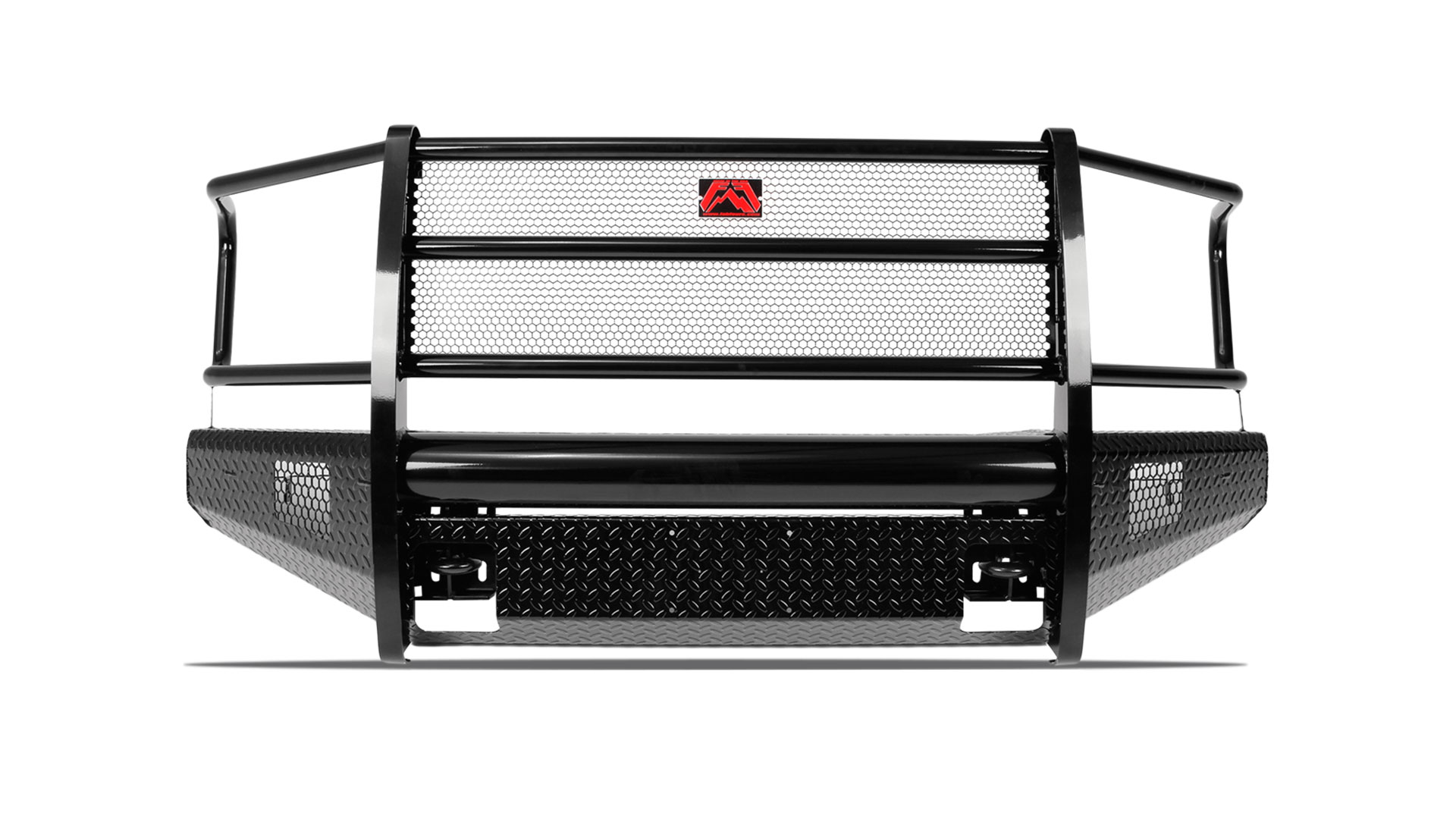 hight resolution of black steel front bumper ford superduty