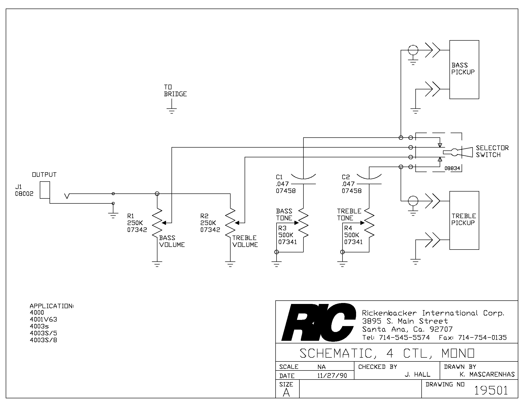 4001_schematic rickenbacker 4003 wiring diagram efcaviation com rickenbacker 5 control wiring harness at arjmand.co