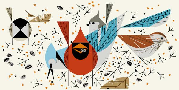 Birdfeeders by Charley Harper