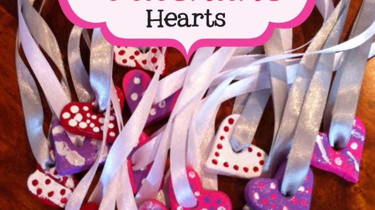 Salt Dough Valentine Hearts