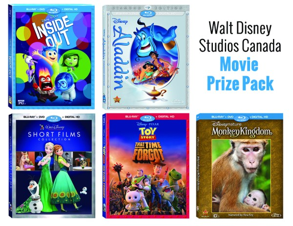 Disney movie prize pack