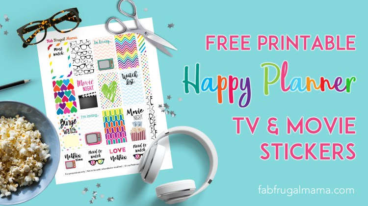 Free Printable Happy Planner TV & Movie Stickers