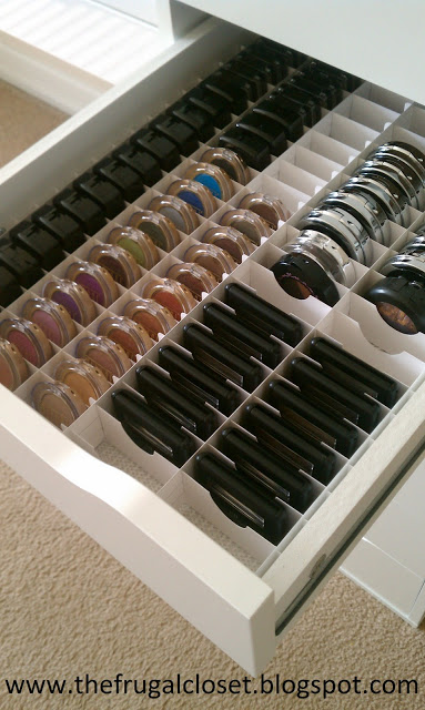 Beautifully Organized shadows by The Frugal Closet