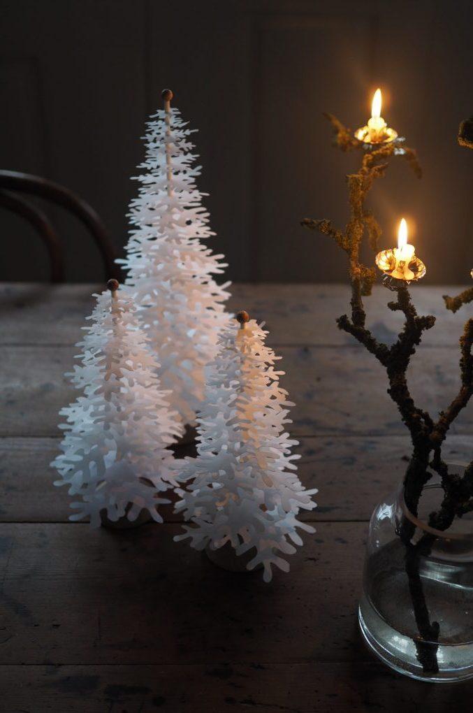 Nordic Fir Tree 3d Kit On Foot White Medium Fabulous