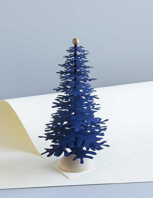 3d Christmas Paper Tree Decoration Kit Dark Blue Medium Fabulous Goose Scandinavian Interior Design Products To A Discerning Client
