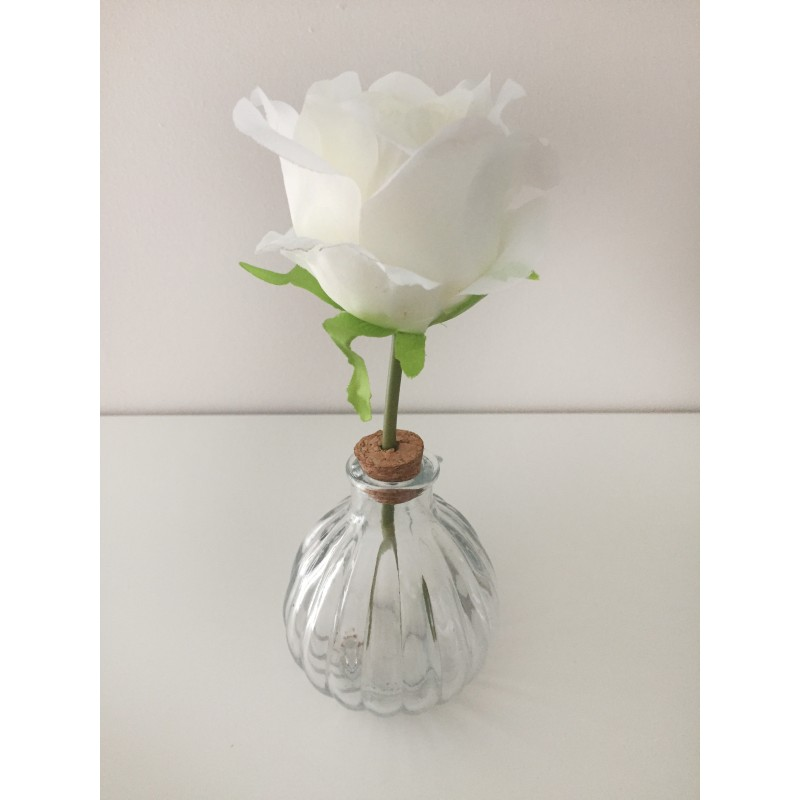 Satin Rose Glass Vase set of 2 A pink or white beautiful