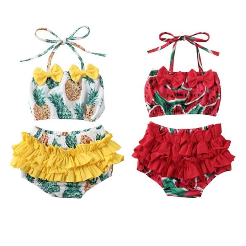Watermelon Pineapple Matching Swimsuits