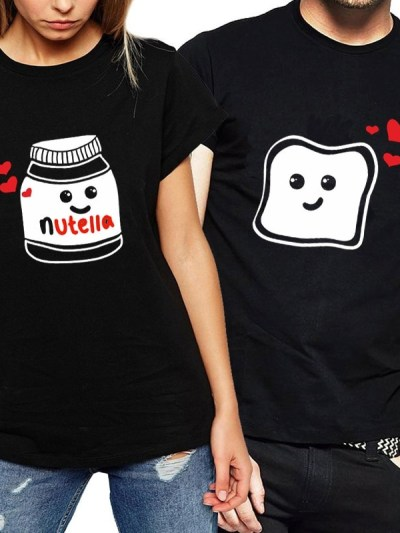 Nutella Bread Combination Matching Tees for Lovers