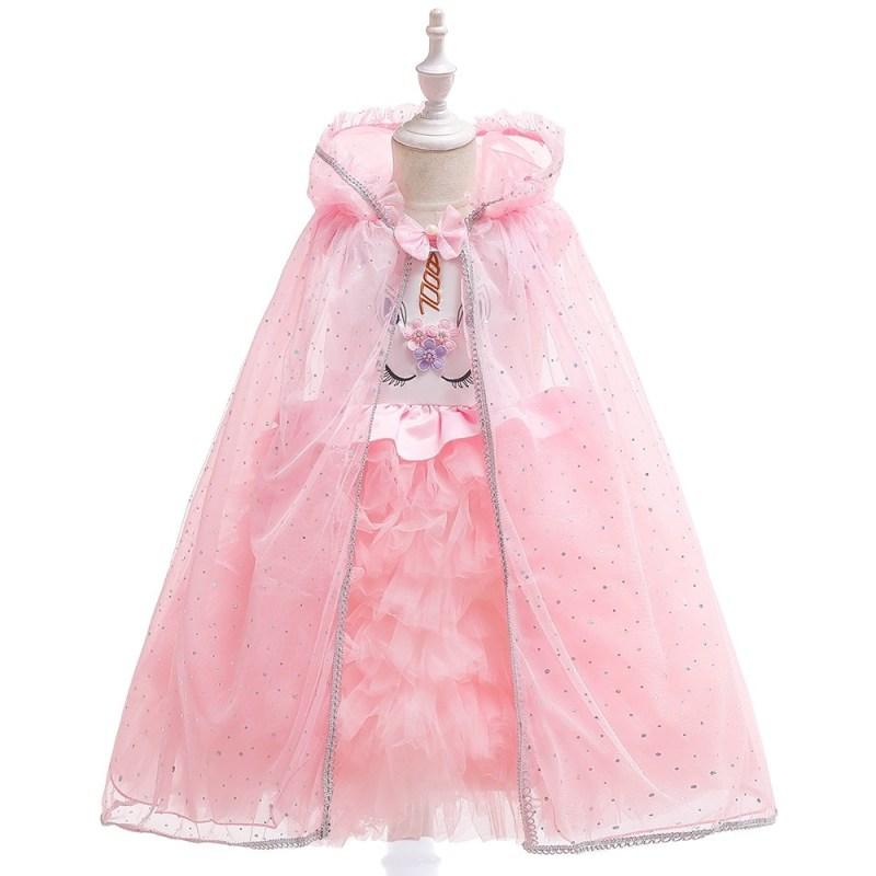 Girls Birthday Unicorn Theme Bow Dress