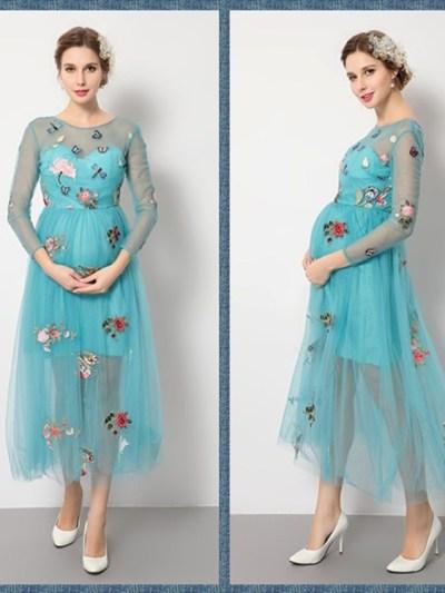 Middle Length Baby Shower Formal Dress for Mom