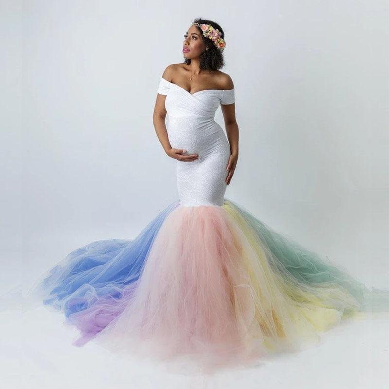 Rainbow Tutu Fishtail Dress For Baby Shower