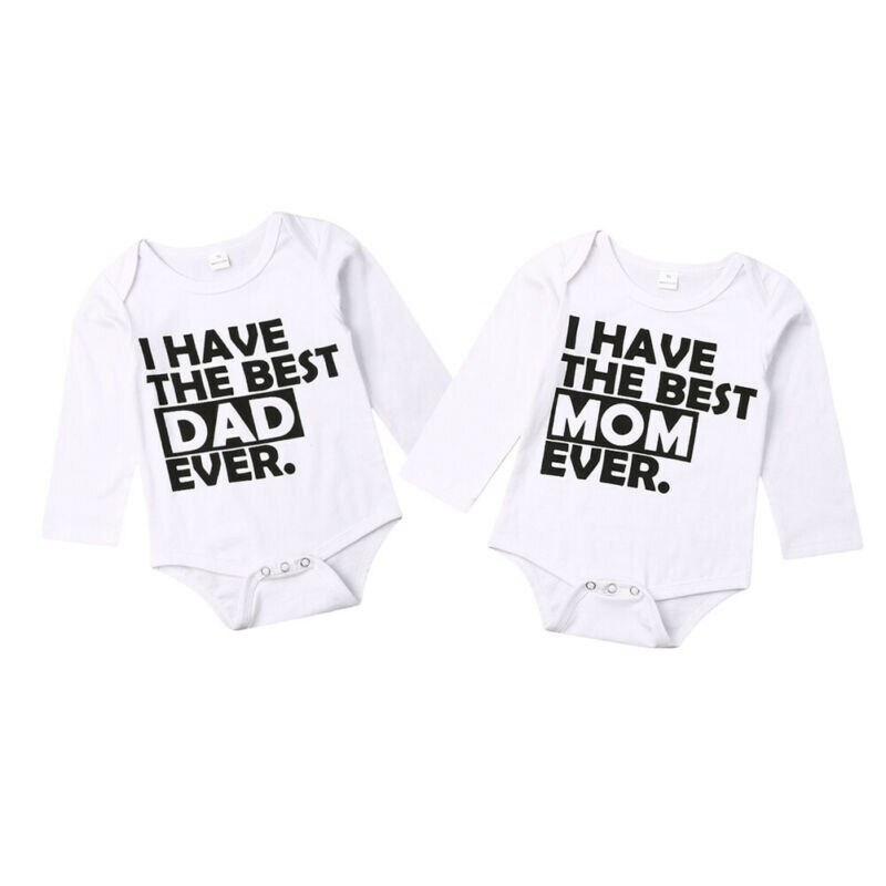 I have Best DAD MOM Ever Twin Outfits
