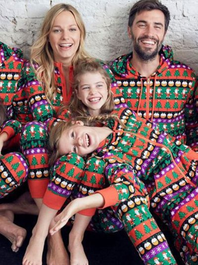 Family Matching Christmas colorful Onesie Rompers