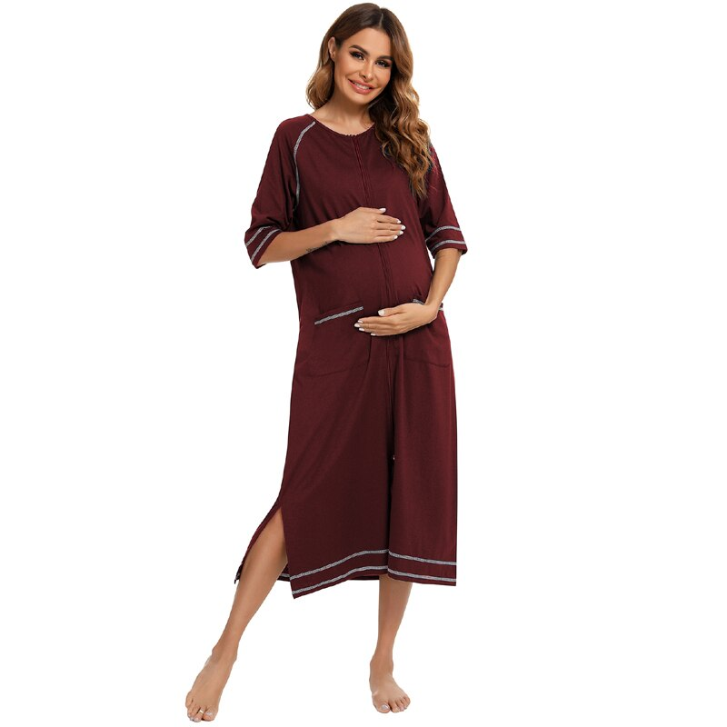 Summer Nightgown for Pregnant Women & Nursing