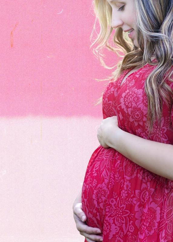 Maternity Photoshoot Dresses Pink