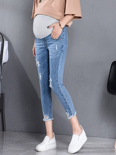 High Waist Belly Skinny Pencil Pants for Pregnant Women