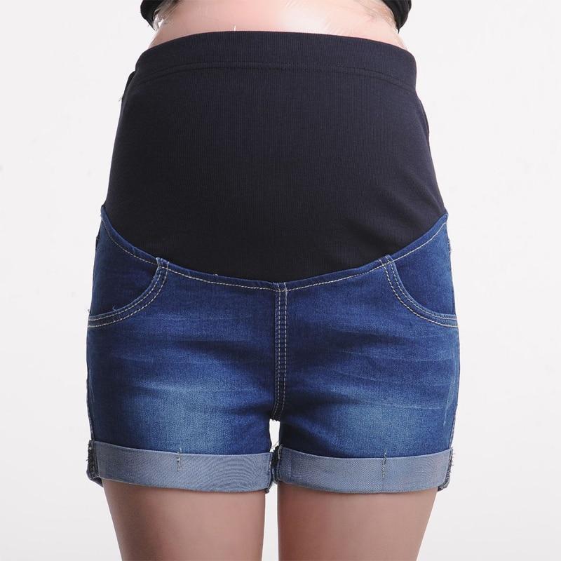 Summer Denim Maternity Shorts for Pregnant Woman
