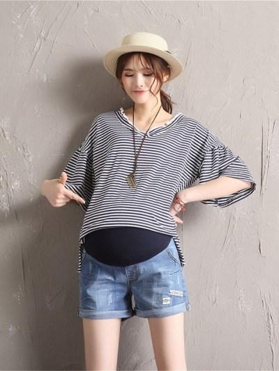 Plus Size Summer Pregnancy Clothes Denim Shorts