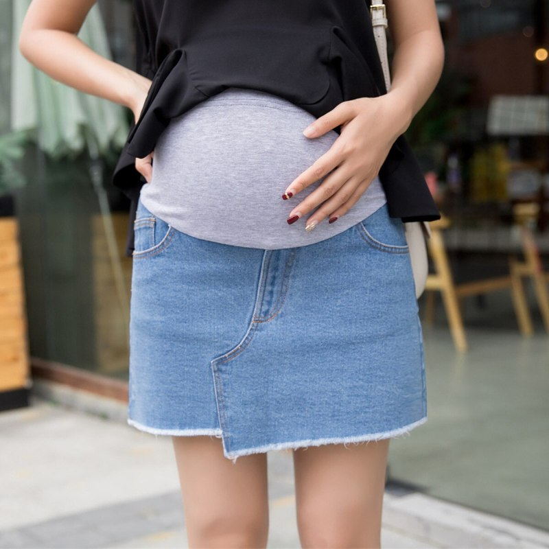 Pregnant Women Denim Skirts With Lining Shorts