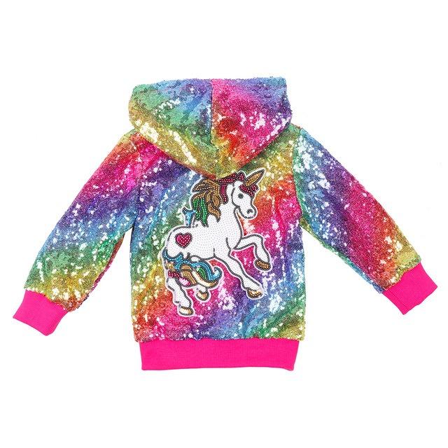 Unicorn rainbow jacket for girls