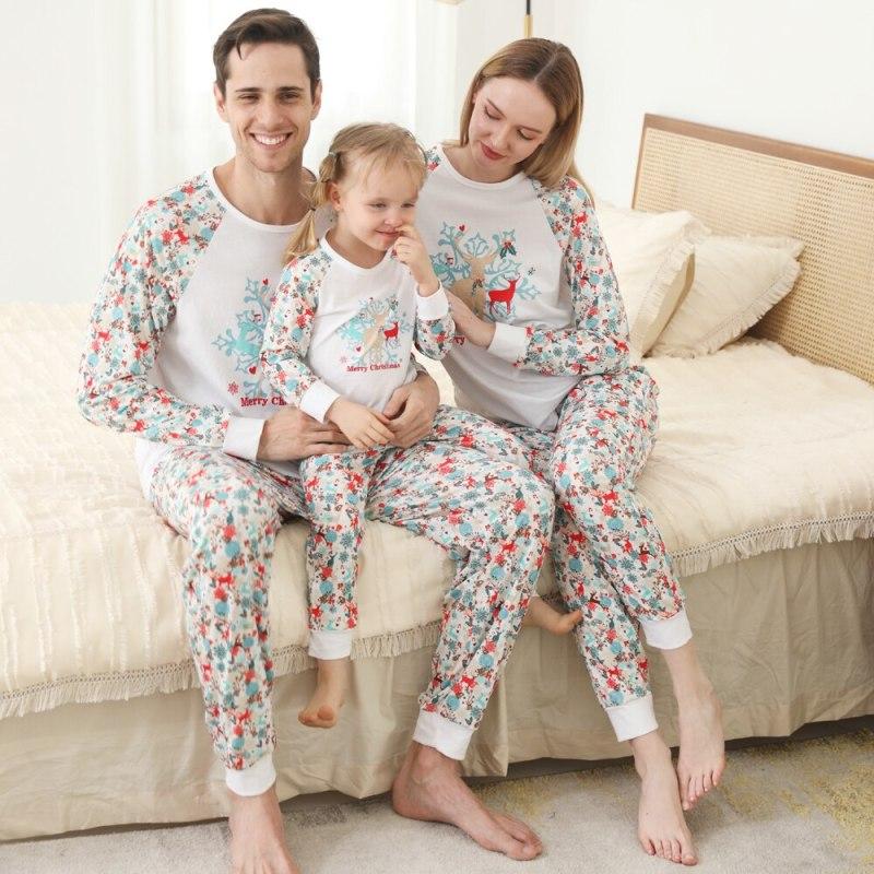 Merry Christmas Print Matching Pajamas For Family