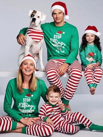 Red Striped Santa Pajamas for Christmas Party