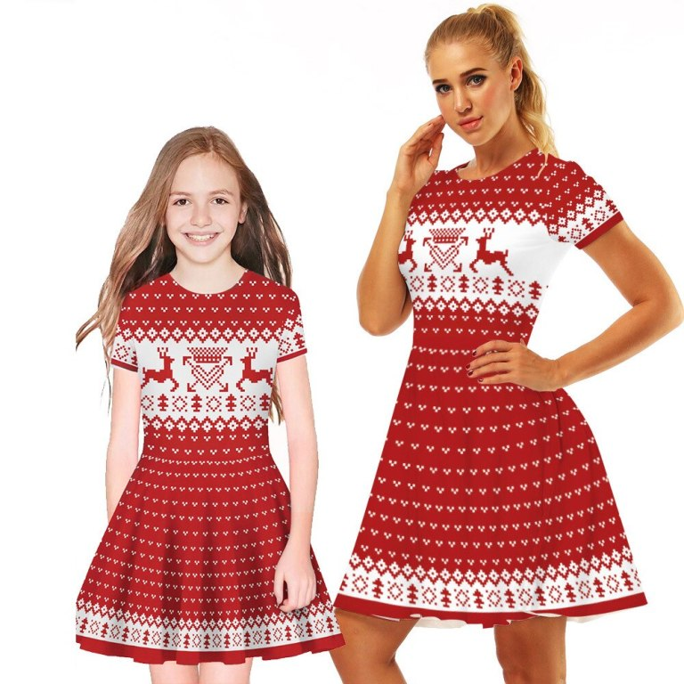 Mommy and Me Red Christmas Dress