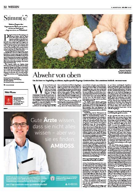 Fabian Franke Journalist ZEIT WISSEN Hagelflieger Cloud Seeding