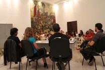 I Seminário sobre Teatro de Sombras - Palestra Alexandre Fávero (Cia TEatro Lumbra) e Thiago Bresani e Soledad Garcia (Cia Lumiato)- Foto Fabiana Lazzari