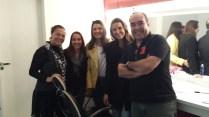 Suzana, Giovana, eu, Raquel e diretor Marcos