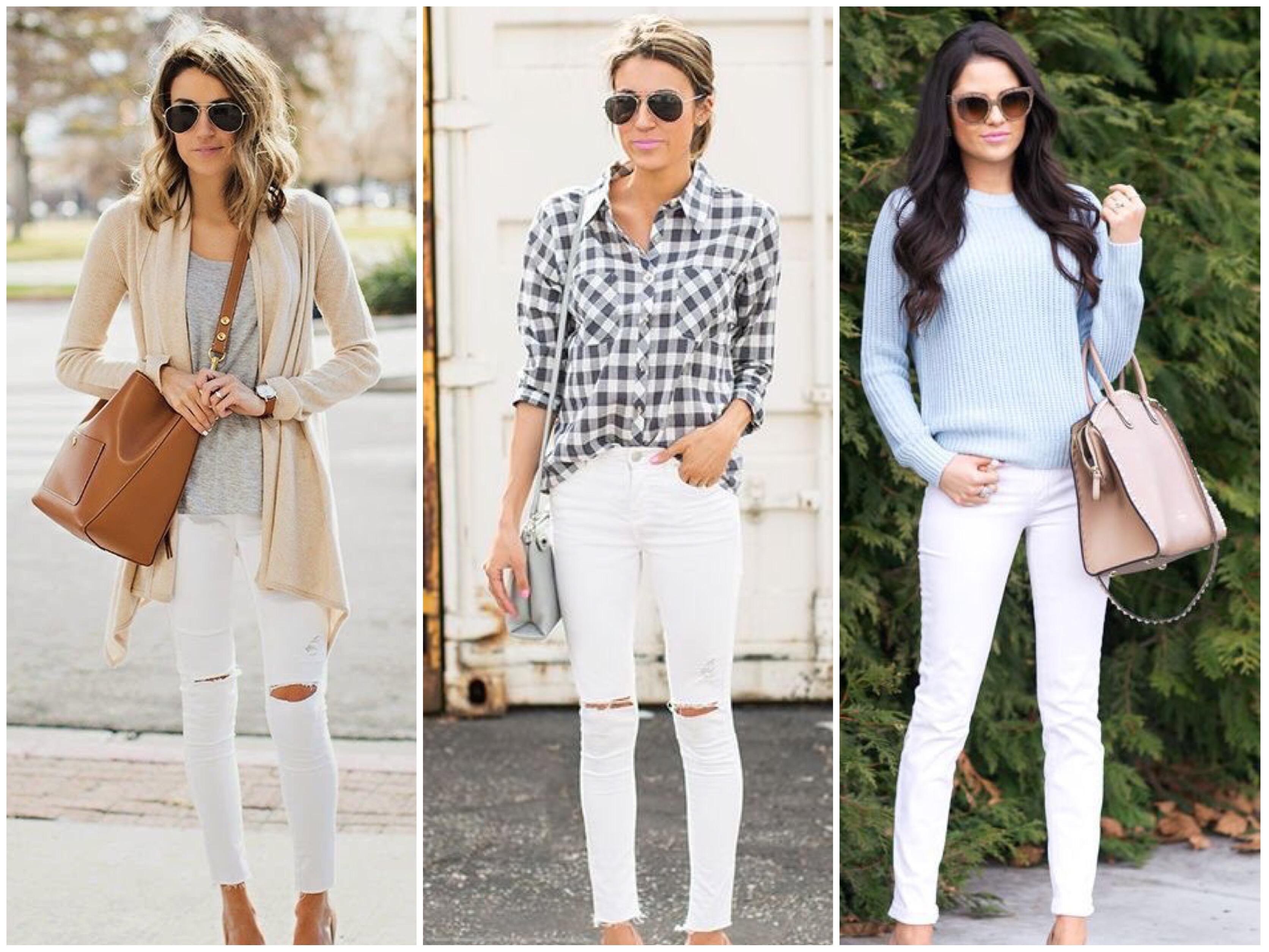 Resultado de imagem para look calça branca