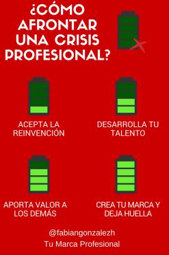 Infografia que hacer ante una crisis profesional