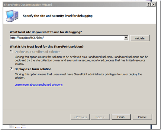 Creating a SharePoint 2010 External Content Type with CRUD Methods using LINQ and a SQL LOB System (4/6)